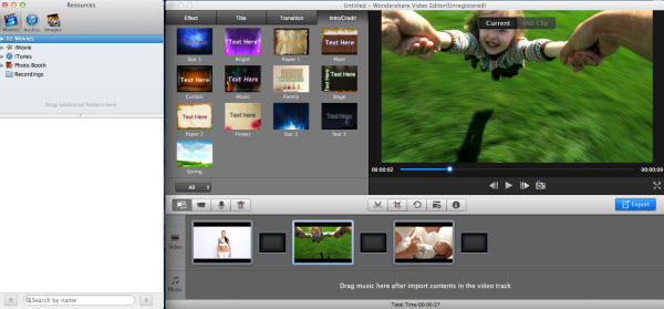Mac video editor add files