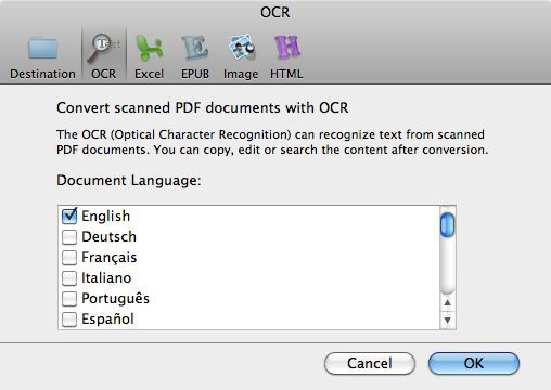 ocr language
