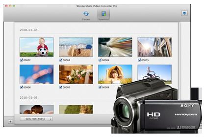 Прямое подключение для файлов ваших видеокамер и для AVCHD-файлов